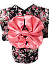 Dog Costume Dog Clothes Casual/Daily Floral/Botanical Black Blushing Pink