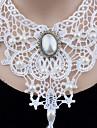 Femme Collier court /Ras-du-cou Pendentif de collier Colliers Declaration Perle imitee Forme de Cercle Forme Ronde Basique Original