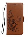 애플 아이폰 7 7 플러스 케이스 커버에 대 한 케이스 나비 소녀 패턴 양각 광택있는 pu 소재 카드 스텐 트 전화 케이스 아이폰 6s 6 플러스 5s 5