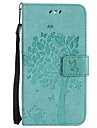 For Case Cover Card Holder Wallet with Stand Flip Pattern Full Body Case Cat Tree Hard PU Leather for LG LG K10 (2017) LG K10 LG K8