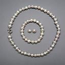 ieftine Machiaj & Îngrijire Unghii-Alb Perle Seturi de bijuterii femei Argintiu cercei Bijuterii Pentru Nuntă Petrecere Aniversare Zi de Naștere Logodnă Cadou / Cercei / Coliere