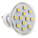 hesapli LED Spot Işıkları-3W 80-100lm GU10 LED Spot Işıkları MR16 12 LED Boncuklar SMD 5050 Sıcak Beyaz 220-240V