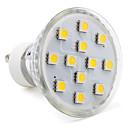 povoljno LED reflektori-1pc 2 W 80-100 lm GU10 LED reflektori 12 LED zrnca SMD 5050 Toplo bijelo / Hladno bijelo / Prirodno bijelo 220-240 V