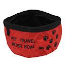 baratos Colares-L Gato Cachorro Tigelas e Bebedouros Animais de Estimação Tigelas e alimentação de animais Portátil Dobrável Vermelho Azul