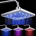 preiswerte LED-Duschköpfe-Moderne Regendusche Chrom Eigenschaft - LED-Lampe, Duschkopf
