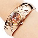 ieftine Ceasuri Damă-Pentru femei Ceas La Modă Ceas Brățară Quartz imitație de diamant Aliaj Bandă Brățară rigidă Elegant Bronz