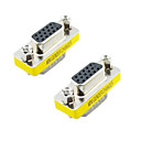preiswerte USB Kabel-VGA 15pin Male to Female Adapter (Silver & Yellow, 2 PCS)