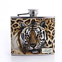 preiswerte Individuelle Tassen, Becher und Gläser-Tagesgeschenk-Leoparddruck personalisiert Vaters 5 Unzen PU-Leder-Kolben