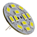 abordables LED à Double Broches-3 W Spot LED 250 lm G4 12 Perles LED SMD 5730 Blanc Naturel 12 V
