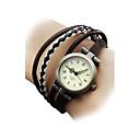 Недорогие Женские часы-Жен. Часы-браслет Наручные часы Японский Кварцевый Повседневные часы Натуральная кожа Группа Богемные Мода Разноцветный - Черный Коричневый Один год Срок службы батареи / SSUO SR626SW