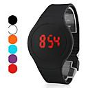 hesapli Erkek Saatleri-Erkek Bilek Saati Dijital Dokunmatik Ekran Takvim Yaratıcı Silikon Bant Dijital Siyah / Beyaz / Kırmızı - Mor Kırmzı Yeşil / LED