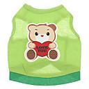 hesapli Meyve ve Sebze Araçları-Köpek Tişört Köpek Giyimi Karton Yeşil Pamuk Kostüm Evcil hayvanlar için