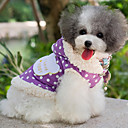 cheap Dog Clothing & Accessories-Dog Coat Dog Clothes Polka Dot Purple Pink Cotton Costume For Pets