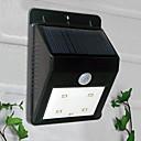hesapli Dış Ortam Lambaları-4-LED Beyaz Işık Güneş Enerjili PIR Sensör Açık Işık (BDT-57164)
