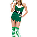hesapli Saç Takıları-Santa Suits Cosplay Kostümleri Kadın's Yılbaşı Festival / Tatil Cadılar Bayramı Kostümleri Kıyafetler Kırk Yama