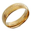 Недорогие Именные аксессуары-Муж. Кольцо - Титановая сталь Мода 8 Золотой Назначение Новогодние подарки Повседневные