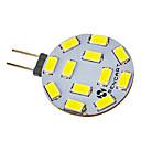 hesapli LED Bi-pin Işıklar-SENCART 300-320lm G4 LED Spot Işıkları 12 LED Boncuklar SMD 5730 Serin Beyaz