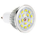 hesapli LED Spot Işıkları-100-550 lm GU10 LED Spot Işıkları 15 LED Boncuklar SMD 5730 Kısılabilir Sıcak Beyaz 220-240 V / #
