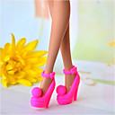 رخيصةأون المكياج & العناية بالأظافر-أحذية الدمية كاجوال إلى Barbie غزل اصطناعي البوليستر PVC أحذية إلى لفتاة دمية لعبة
