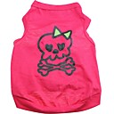 cheap Dog Clothing & Accessories-Cat Dog Shirt / T-Shirt Dog Clothes Skull Rose Cotton Costume For Pets Men's Women's Cute Halloween