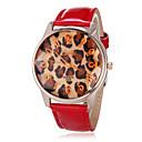 preiswerte Damenuhren-Frauen Analog Strass runden Zifferblatt PU-Band Quarz Analog Armbanduhr