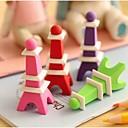 Недорогие Всё для письма и рисования-Эйфелева башня в форме Съемный Ластик (случайный цвет)