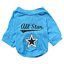 رخيصةأون أقراط-كلب T-skjorte ملابس الكلاب حيوان أزرق قطن كوستيوم من أجل ربيع & الصيف