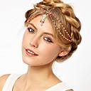 hesapli Saç Takıları-moda turuncu inci altın alaşım bandı (1 adet)