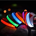 cheap Dog Supplies & Grooming-Cat Pets Dog Collar Dog Training Collars LED Lights Electric Glow Solid Nylon Red Green Blue Pink Rainbow