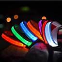 voordelige Hondenhalsbanden, tuigjes & riemen-Kat Huisdieren Hond Kraag Hondentrainingshalsbanden LED verlichting Electrisch Glow in the dark Effen Nylon Rood Groen Blauw Roze