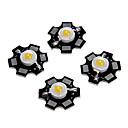 ieftine LED-uri-zdm 5pcs 1w 80-100lm cip de mare luminozitate, putere mare condus cald alb înalt 3000-3500k, substrat de aluminiu (dc3-3.2v 350ma)