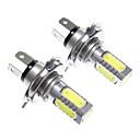 cheap LED Car Bulbs-H4 11W White Light LED for Headlight Bulb (10-24V,2pcs)