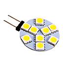baratos Luminárias de LED  Duplo-Pin-130-180 lm G4 Luminárias de LED  Duplo-Pin 9 leds SMD 5050 Branco Frio DC 12V