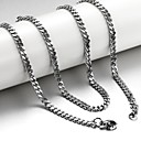 cheap Necklaces-Men's Chain Necklace - Titanium Steel Silver Necklace Jewelry For Christmas Gifts, Wedding, Party