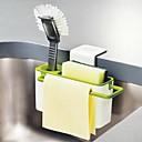 hesapli Saklama ve Organizasyon-Mutfak fırça sünger askı vantuz ile lavabolar drenaj havlu tutucu kuru raflar