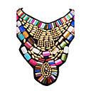 hesapli Kolyeler-Kadın's Açıklama Kolye / Bib kolye - Reçine Moda, Renkli, Festival / Tatil Altın Kolyeler Mücevher Uyumluluk Parti, Özel Anlar, Doğumgünü