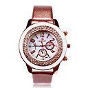 preiswerte Personalisierte Armbanduhren-Personalisierte Geschenke Beobachten, Analog Japanischer Quartz Beobachten mit Stahl Gehäuse-Material PU Band Armbanduhren für den Alltag / Modeuhr / Armbanduhr Wasserbeständigkeit