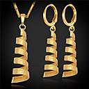 baratos Colares-Mulheres Conjunto de jóias - Pedaço de Platina, Chapeado Dourado Fashion Incluir Prata / Dourado Para Casamento / Festa / Ocasião Especial / Brincos / Colares