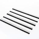 baratos Terminais e Conectores-40 pinos de pinos passo 2,54 milímetros (5 peças)