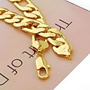 hesapli Makyaj ve Tırnak Bakımı-Erkek Zincir Kolyeler - Altın Kaplama Altın Kolyeler Mücevher Uyumluluk Yılbaşı Hediyeleri, Günlük, Spor