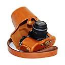 お買い得  ケース、バッグ & ストラップ-14〜42ミリメートルレンズ付きオリンパスOM-Dの電子M10用のショルダーストラップ付きdengpin®革保護カメラケースオイルスキン