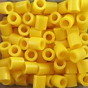 cheap Beads & Beading-Approx 500PCS/Bag 5MM Yellow Fuse Beads Hama Beads DIY Jigsaw EVA Material Safty for Kids Craft