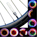 ieftine Breloc LED-LED Lumini de Bicicletă lumini intermitente capac robinet lumini roți Ciclism montan Ciclism Rezistent la apă Portabil Atenţie Baterii Cell Baterie Ciclism / IPX-4