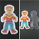 cheap Beads & Beading-1PCS Template Clear Fuse Beads Pegboard Boy Son Pattern for 5mm Hama Beads DIY Jigsaw