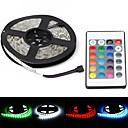 hesapli LED Şerit Işıklar-ZDM® 5m Işık Setleri 300 LED'ler 5050 SMD 1 24Keys Uzaktan Kumanda / 1 DC Kablo RGB Su Geçirmez / Dekorotif 12 V 1set / IP65