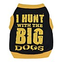 cheap Dog Clothing & Accessories-Cat Dog Shirt / T-Shirt Dog Clothes Letter & Number Black / Orange Black / Yellow Cotton Costume For Spring &  Fall Summer Men's Women's Casual / Daily