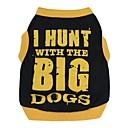 hesapli Köpek Giyim ve Aksesuarları-Kedi Köpek Tişört Köpek Giyimi Harf & Sayı Noir/Orange Siyah/Sarı Pamuk Kostüm Evcil hayvanlar için Erkek Kadın's Sevimli Günlük/Sade