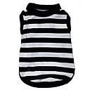 hesapli Fırın Araçları ve Gereçleri-Kedi Köpek Tişört Köpek Giyimi Çizgi Kalp Siyah/Beyaz Terylene Kostüm Evcil hayvanlar için