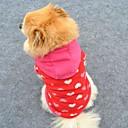 preiswerte Ohrringe-Katze Hund Kapuzenshirts Hundekleidung Herz Rose Polar-Fleece Kostüm Für Haustiere Herrn Damen Niedlich Modisch