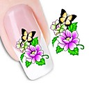 cheap Makeup & Nail Care-1 pcs 3D Nail Stickers Water Transfer Sticker nail art Manicure Pedicure Flower / Fashion Daily